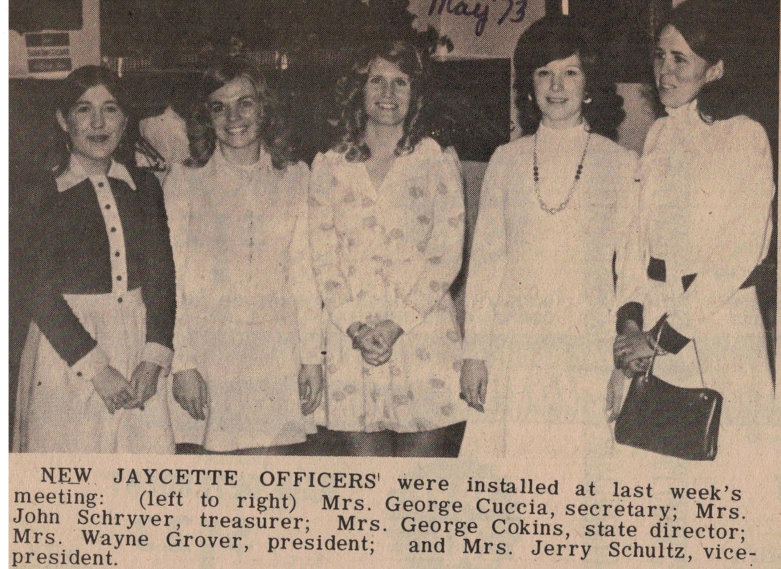 1973 Jaycettes Board